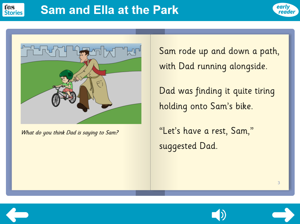 At the Park Interactive Storybook - Early Reader Level - PSHE KS1