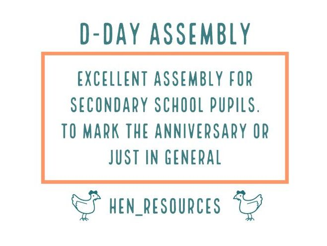 D Day Assembly - June - Whole School