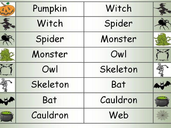 Halloween orienteering , wordsearch, Acrostic poem and word mat