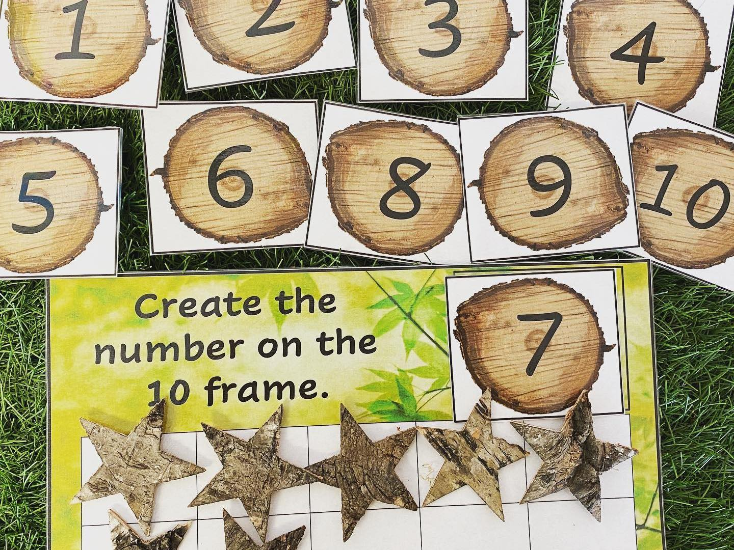 Counting with tens frame