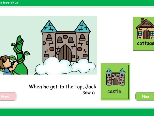Jack and the Beanstalk Story Software Special Needs Colourful Semantics