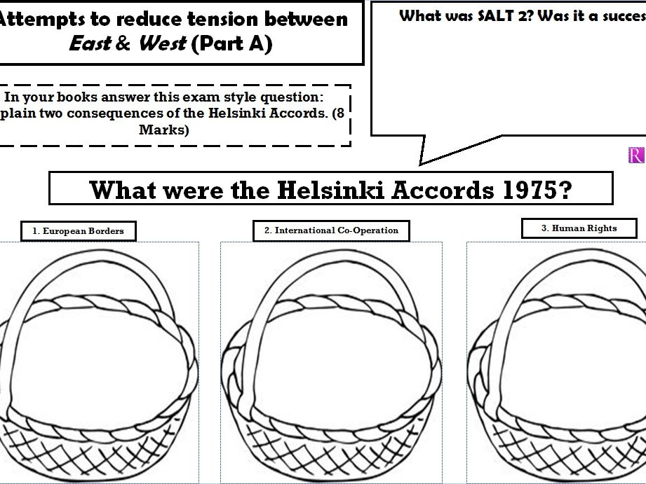 Edexcel GCSE History - Superpower relations & the Cold War - Topic 3.1 - SALT 2 Helsinki Accords