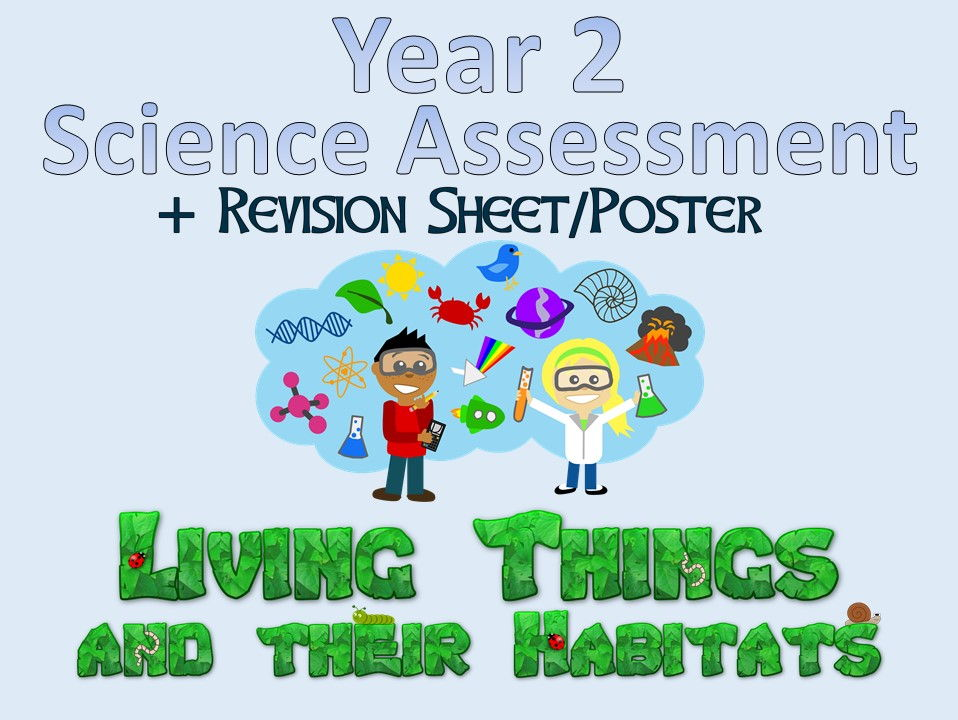 Year 2 Science Assessment: Living Things and Their Habitats + Revision Sheet/Poster
