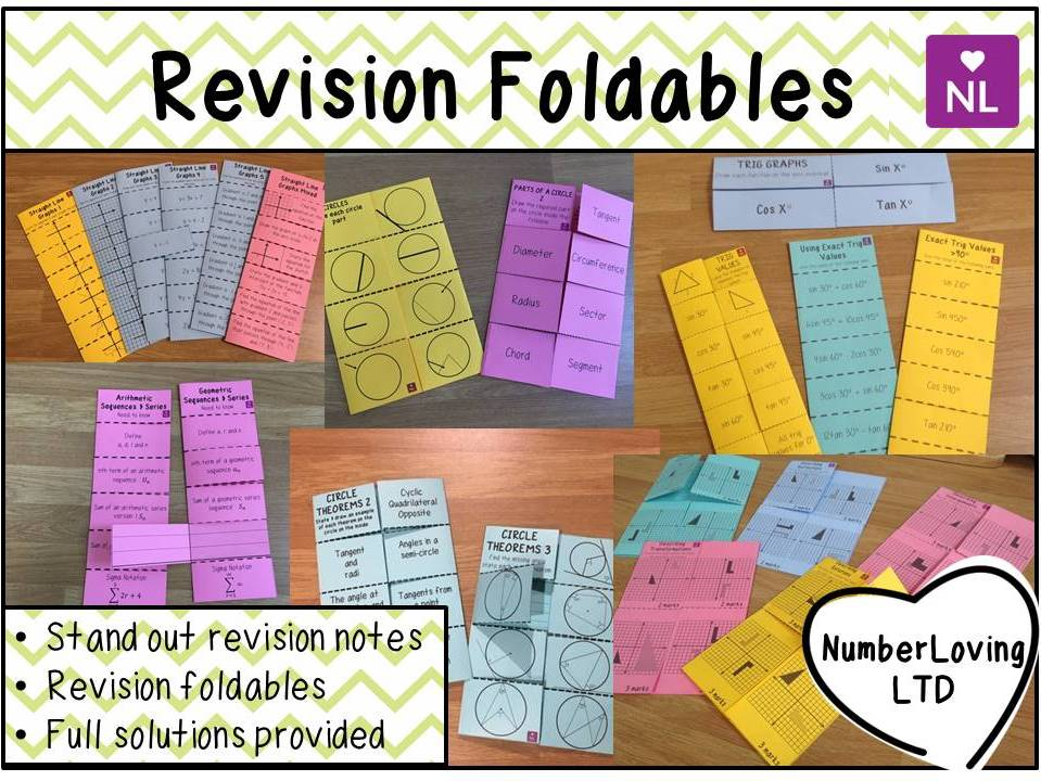 Maths Revision Foldable Pack