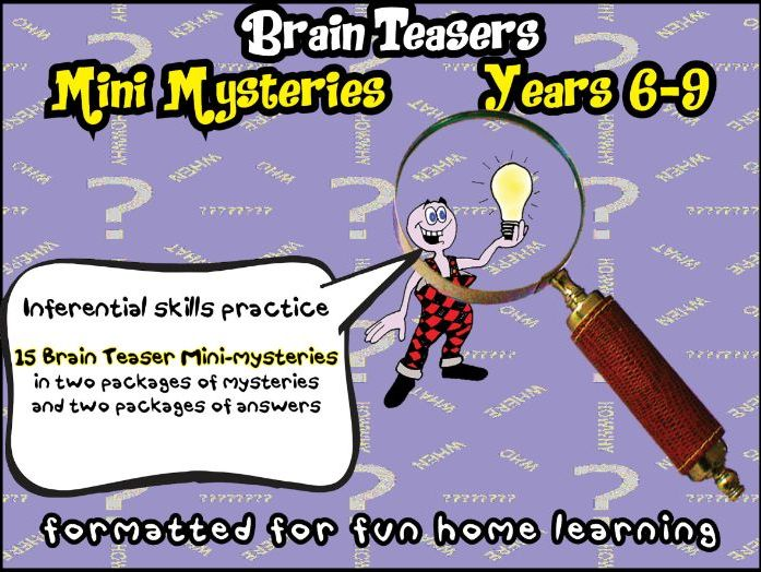 Brain Teaser Mysteries & Fun Activities