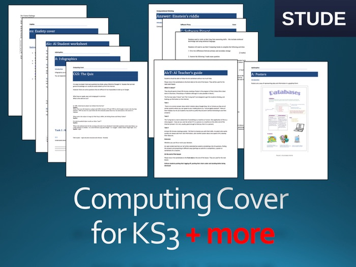 Computing KS3 cover lessons
