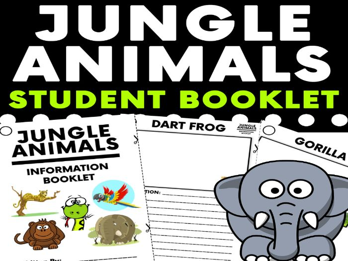Jungle Animals Student Research Booklet