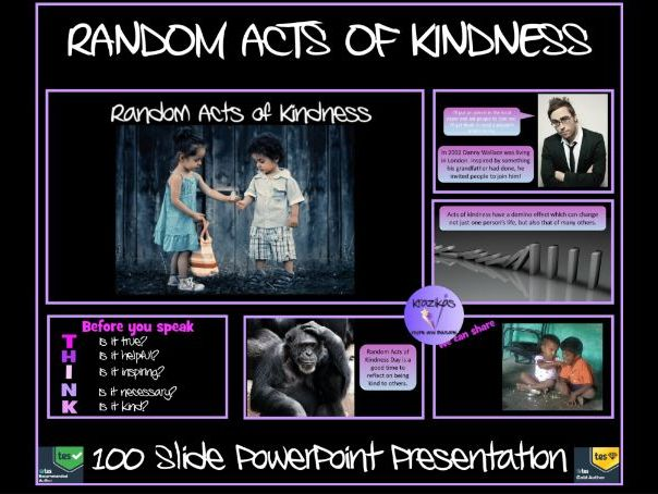 Kindness: Random Acts of Kindness - Presentation
