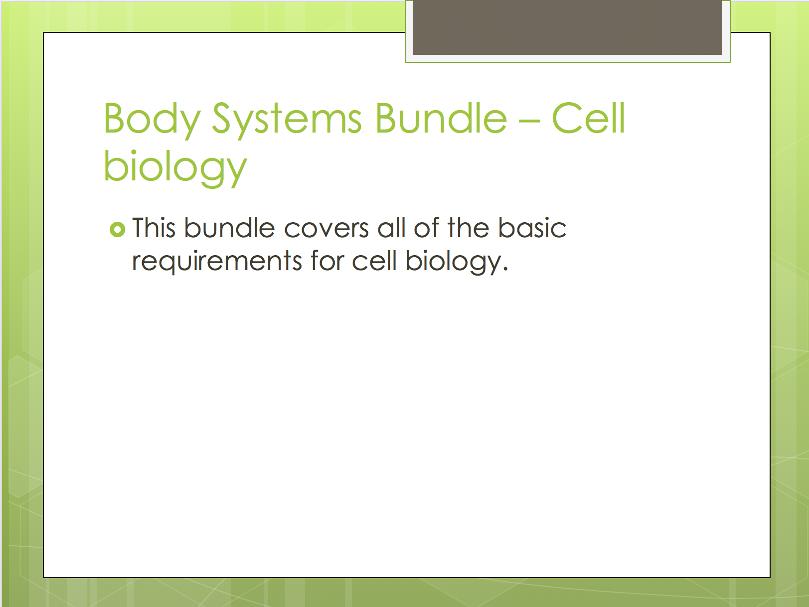 Cellular Biology Resources Elementary School Cells Body Systems Cell