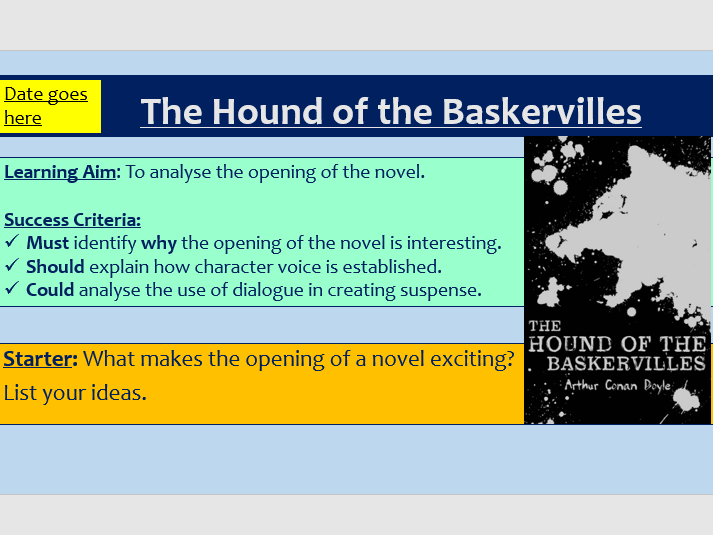 The Hound of the Baskervilles - Opening