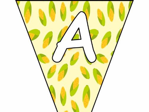 Printable bunting display bulletin letters numbers and more: Harvest