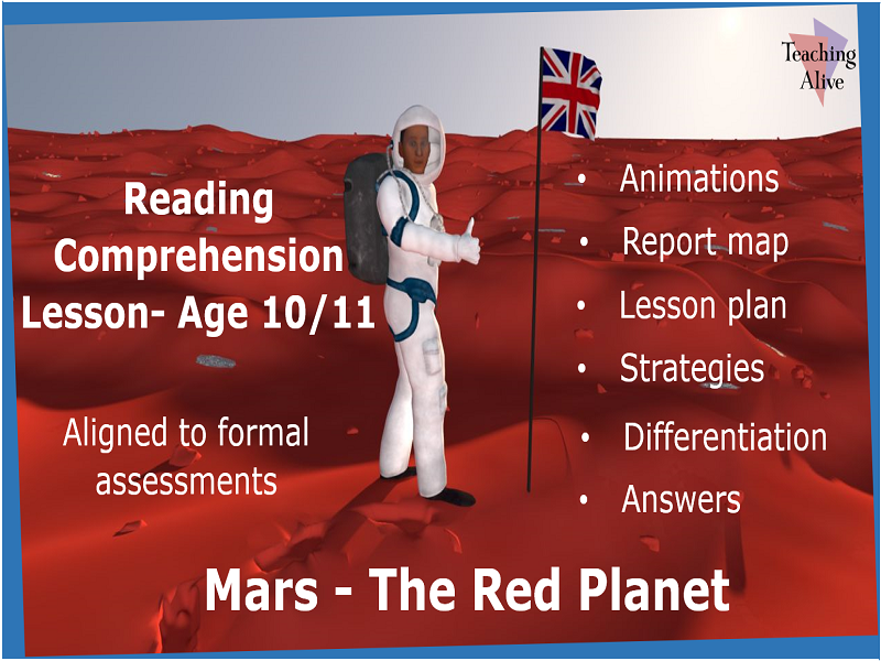Age 10/11 Reading Comprehension Lesson- Animations & PowerPoints