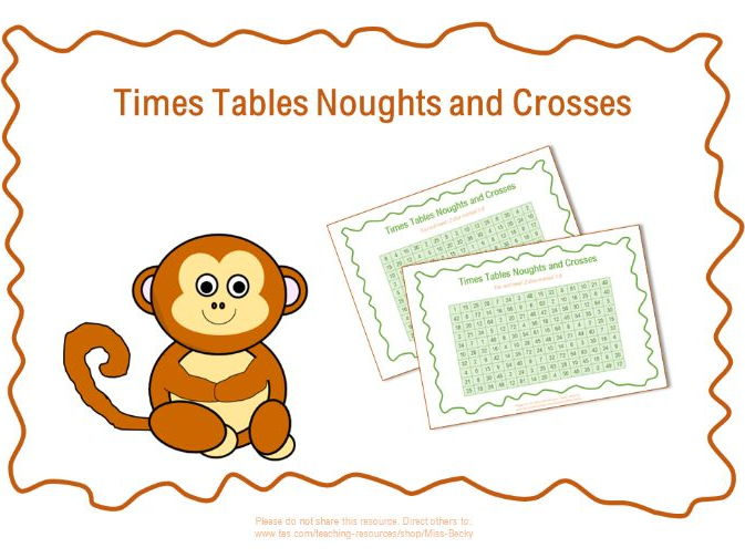 Times Tables Noughts and Crosses / Tic-Tac-Toe