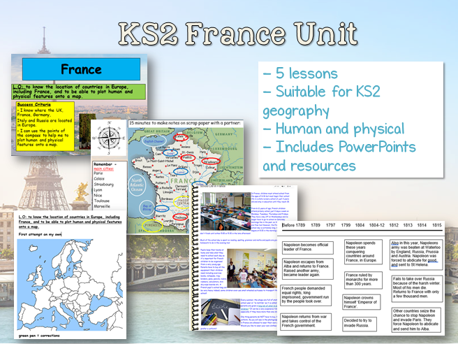 Map Of France For Ks2.Ks2 France Geography Unit 5 Lessons Fully Resourced