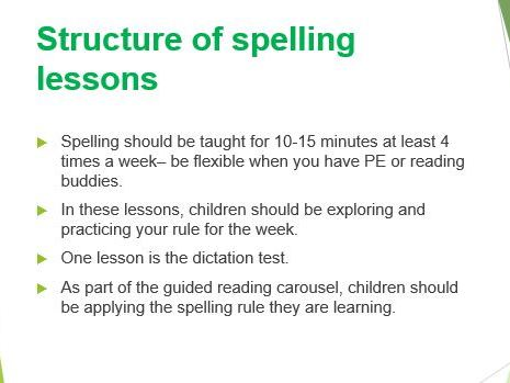 Staff training on spelling