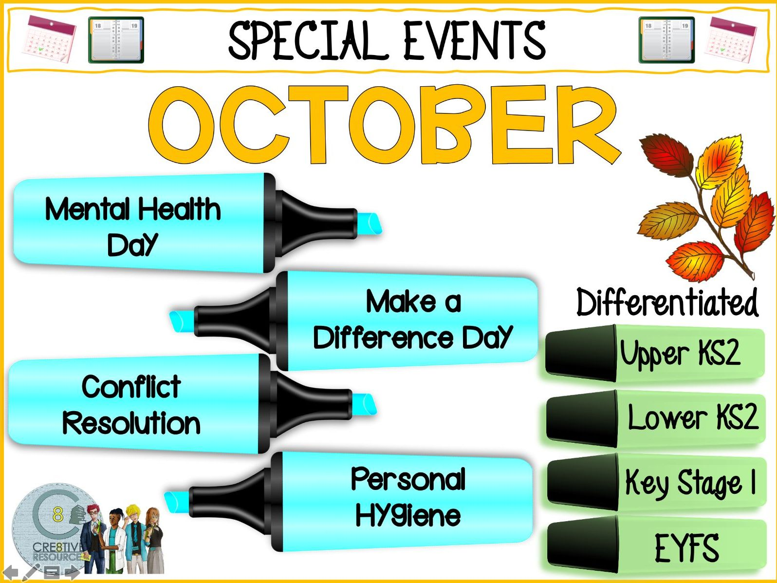 October Special Days - Primary Pack