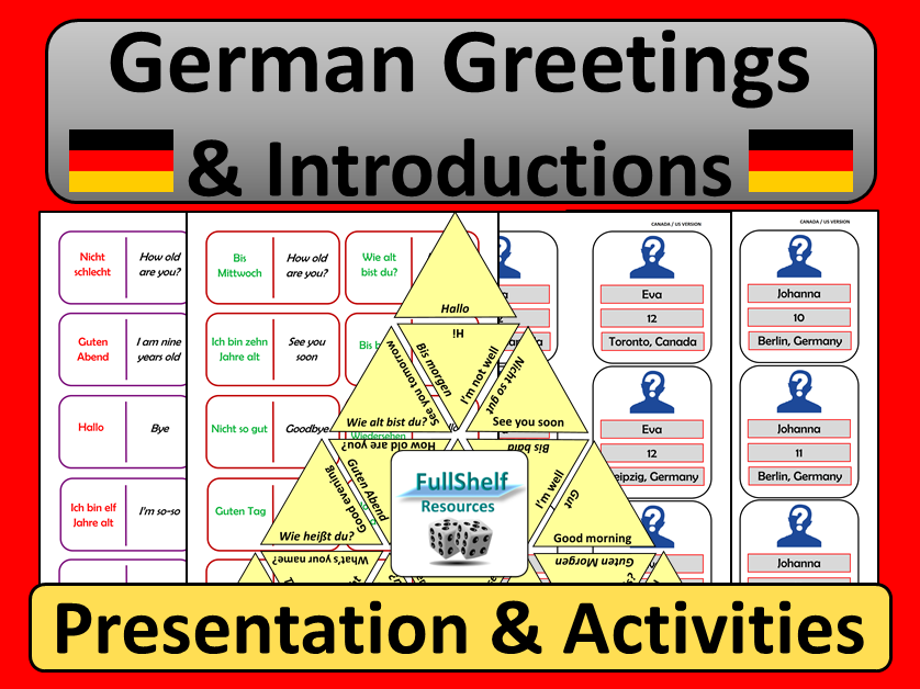 German Greetings and Introductions Games