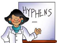HYPHENS   - word bank of hyphenated words KS2 (grammar and writing)(Alphabet list)