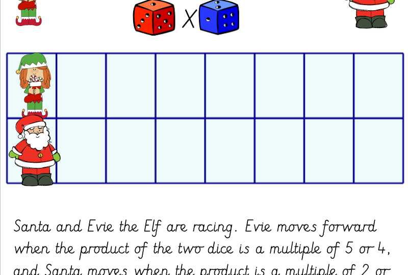 Christmas Multiplication Game Race to the North Pole