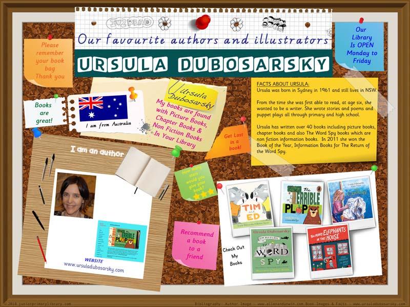 Library Poster - Ursula Dubosarsky Australian Children's Author