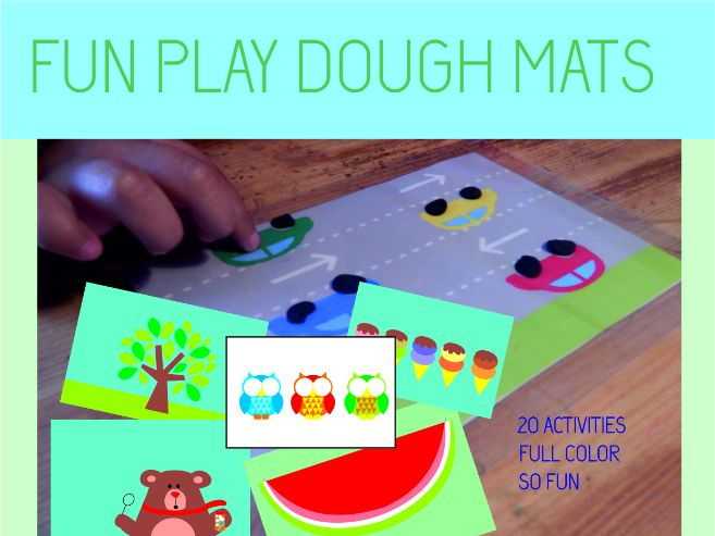 FUN PLAY DOUGH MATS