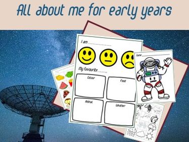 All about me for ESL- preschool, pre-k and kindergarten WITH DIGITAL VERSION