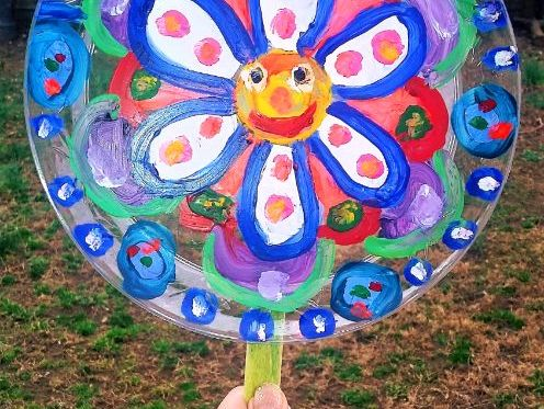 Transparent Spring Flower Suncatcher