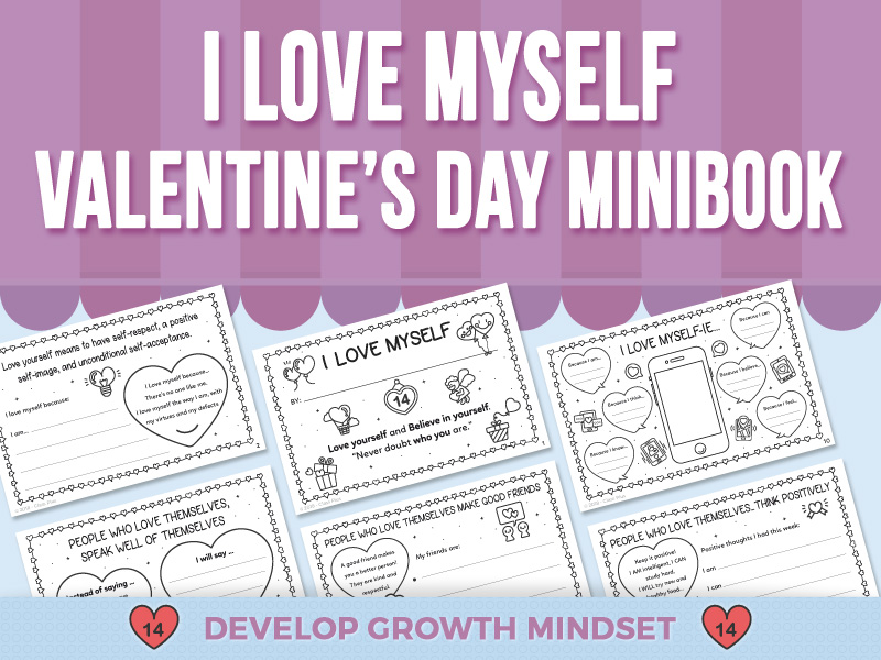 I Love Myself - Valentine's Day - Mini-Book