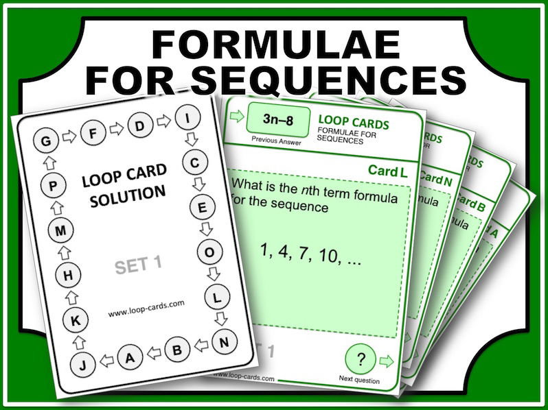 Loop Card Races (Formulae for Sequences)