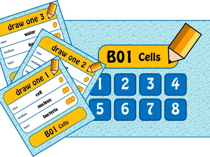 Cells GCSE Game 'Draw Something' Biology - PPT, cards and instructions