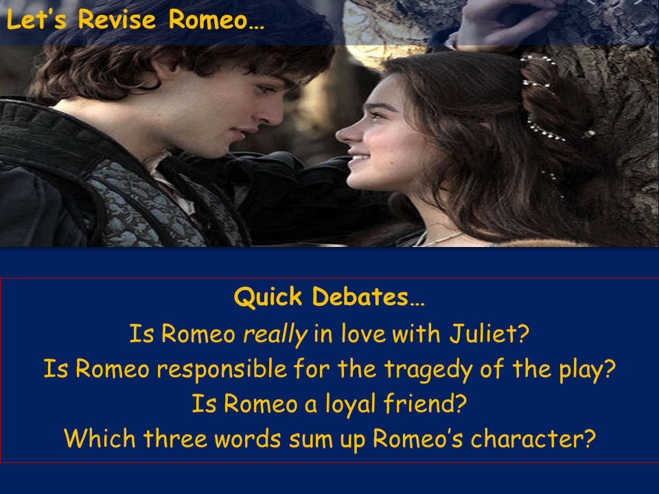 Romeo Revision Lesson