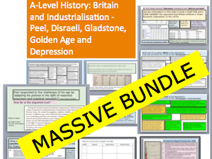 A-Level History: Britain and Industrialisation - Peel, Disraeli, Gladstone, Golden Age and Depression