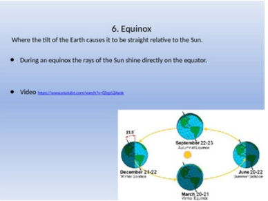 Sun, Moon, and Earth Systems vocabulary notes