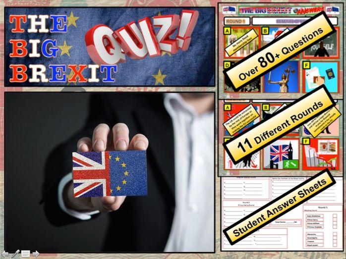Big Brexit Quiz 2019