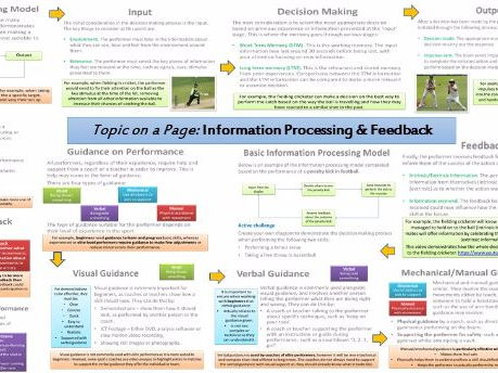 AQA GCSE PE (9-1) Sport Psychology (3.2.1) Basic Information Processing - Topic on a Page