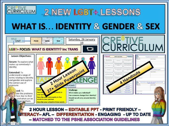 Trans Identity Gender & Sex - PSHE - RSE/C8/LS/09