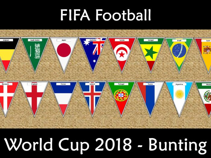FIFA Football World Cup 2018 Bunting