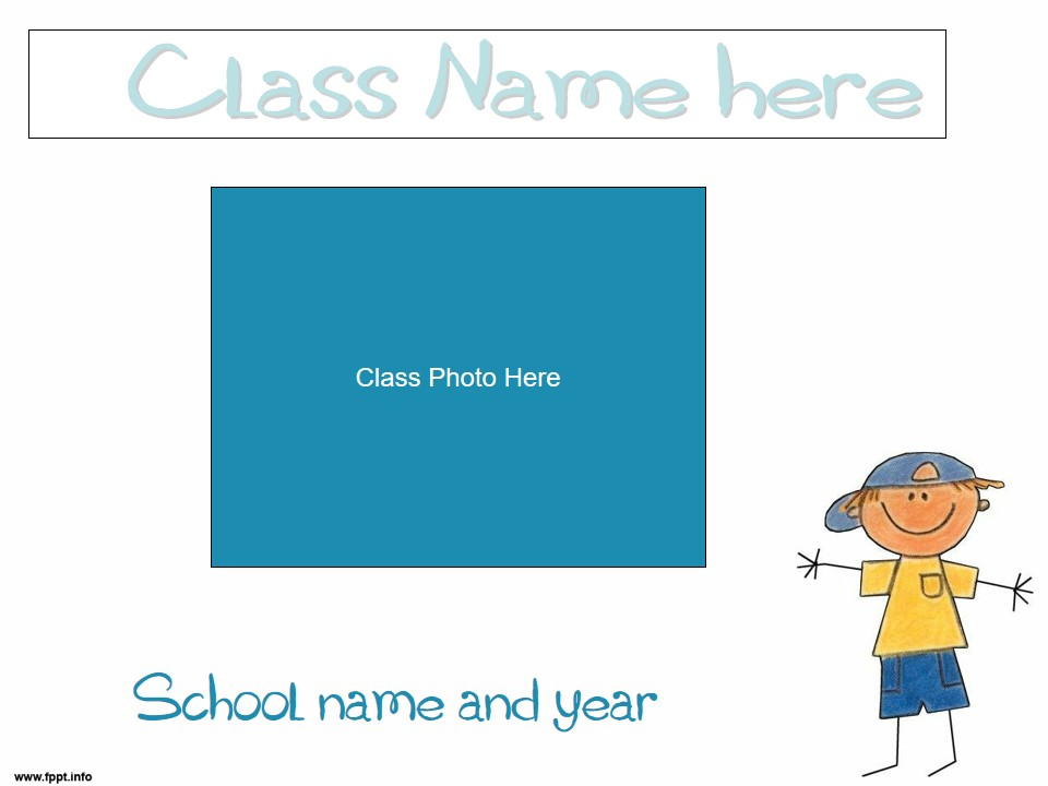 Back to School/Meet The Teacher/Open House Slideshow - School Kid Theme (suitable for UK and US)