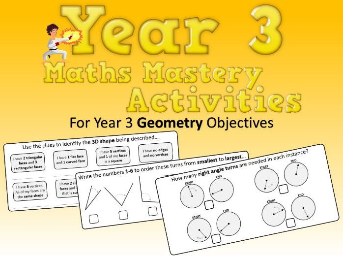 Geometry Mastery Activities – Year 3