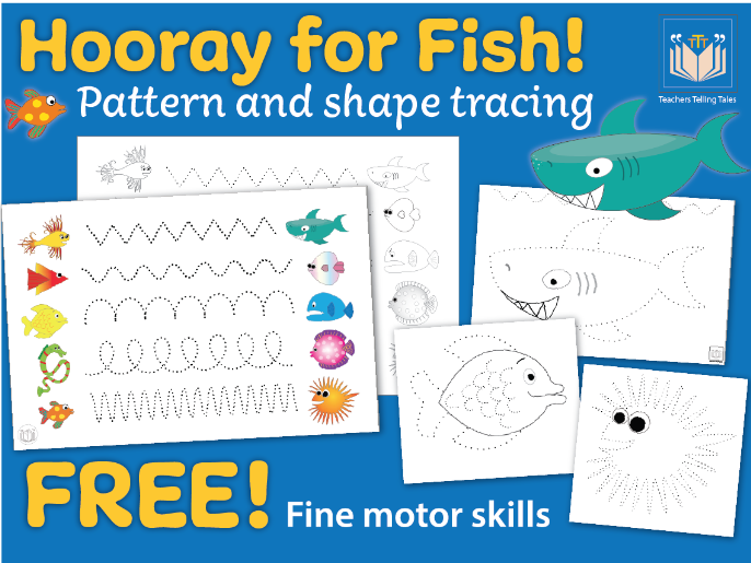 Hooray for Fish Shape &  Pattern Tracing