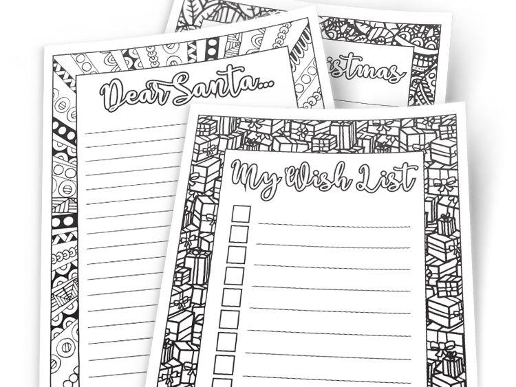 DIY Christmas Stationary - Letters to Santa, Christmas Wishlist & Christmas Letter Templates