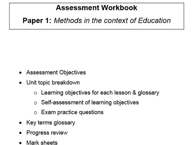 Complete workbook for the new A Level Sociology specification, for PAPER 1 METHODS IN CONTEXT