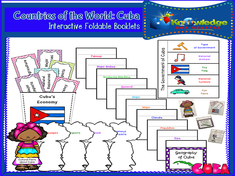 Countries of the World: Cuba Interactive Foldable Booklets