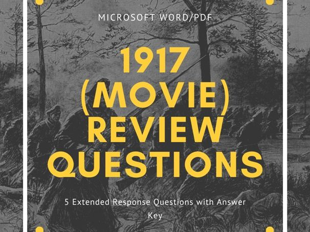 1917 (Movie) Review Questions