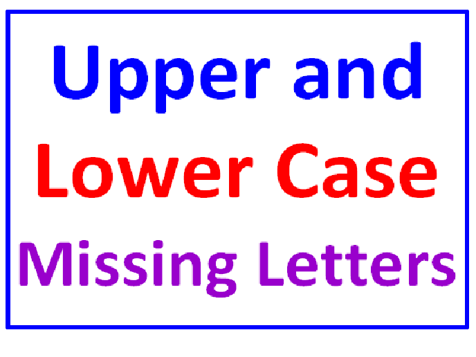 Upper and Lower Case Missing Letters