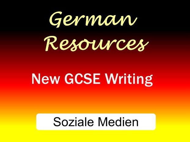 German GCSE - Exam Style Writing Tasks - Soziale Medien