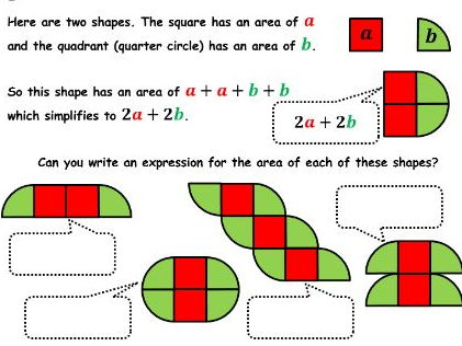 🍕 Algebra as Shapes 🍕 Conceptual understanding of expressions