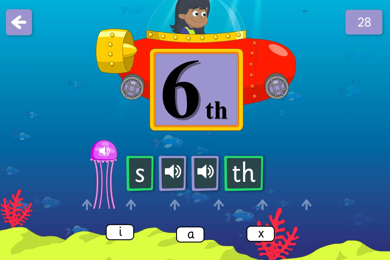 Phoneme Spelling - Underwater Words Interactive Game - Phase 4
