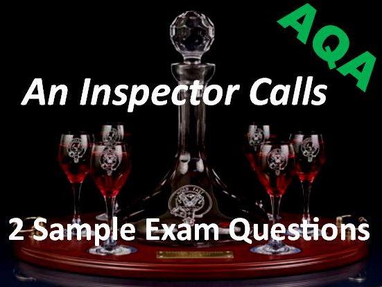 An Inspector Calls: 2 AQA Exam Questions