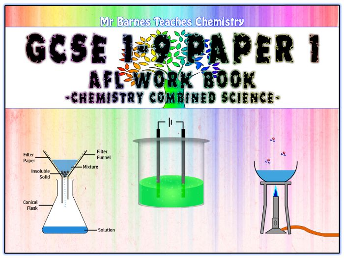 GCSE Combined Science 1-9 - Chemistry Paper 1 AfL Work Book
